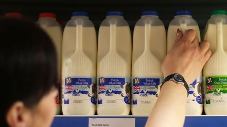 Where can you buy milk at a supermarket if you run out over New Year? Picture: PA Archive/Press Asso