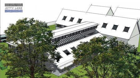 The plans for the new Jetty Lane building. Original concept by Mark Julian. Picture: SCOTT MORTIMER