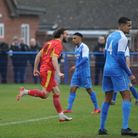 Joe Marsden won the game for Needham Market with a last minute penalty Photo; BEN POOLEY