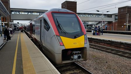 The first new Greater Anglia bimode train has run from Ipswich to Peterborough - this is the train a