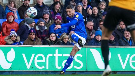 Cole Skuse in action against Bristol Rovers. Photo: Steve Waller