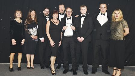 The X-on team receiving its prize at the General Practice Awards 2019in London. From left, Lesley