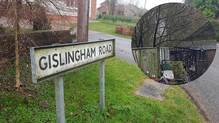 A fire broke out in a small building off Gislingham Road, Finningham on Christmas Day. Picture: ARCH