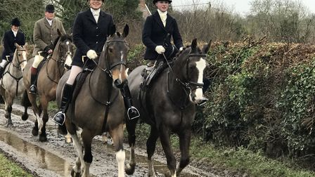 Hadleigh's Boxing Day Hunt gets under way. Picture: Victoria Pertusa