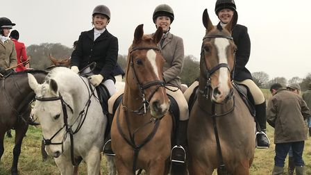 Some of those taking part in the Essex and Suffolk Boxing Day Hunt setting off from Hadleigh Picture