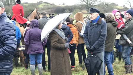 Crowds turned up to see Hadleigh's Boxing Day Hunt start Picture: Victoria Pertusa