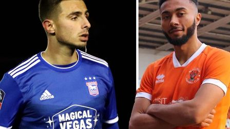 Anthony Georgiou's loan at Ipswich has ended while Grant Ward has signed for Blackpool. Picture: ARC