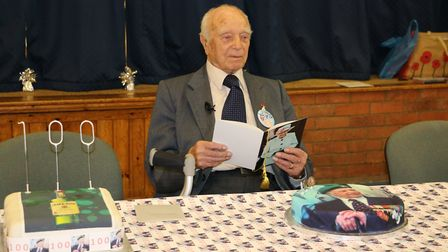 George Emmett celebrated his 100th birthday just days before Christmas Picture: GLORIA TAYLOR