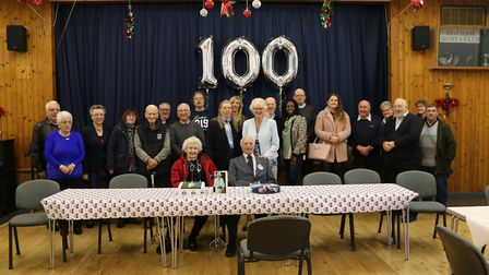 Mr Emmett celebrated his birthday with family and friends at Hitcham Village Hall Picture: GLORIA T