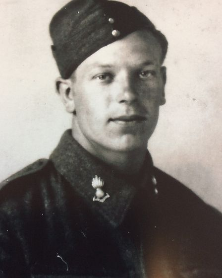 A young George Emmett, taken when he joined the Royal Artillery Picture: GLORIA TAYLOR