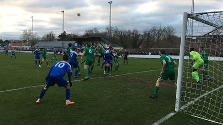 Bury Town on the attack during the first half, against Canvey Island. Picture: CARL MARSTON
