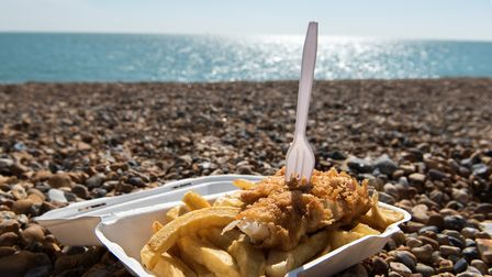 There's nothing quite like fish and chips at the seaside in Suffolk Picture: GETTY