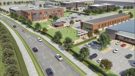 An artist's impression of the plans from Jaynic and Aldi for Suffolk Park, Bury St Edmunds Picture: