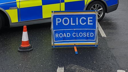 Police have closed a road in Sweffling following a collision Picture: ARCHANT
