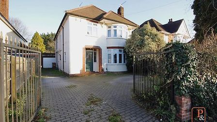 This four-bedroom detached home in Henley Road in Ipswich is accepting offers of £425,000 and above