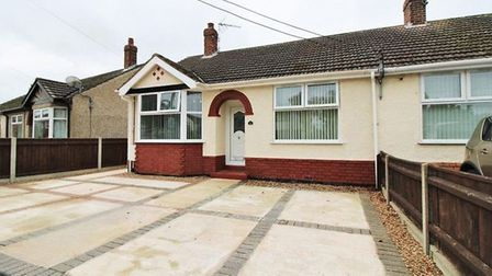 Aldreds is asking for offers on this two-bedroom home in Highland Way, Oulton Broad, in excess of £1