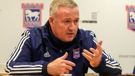 Town manager Paul Lambert pictured during his post match press conference.Picture: Steve Waller