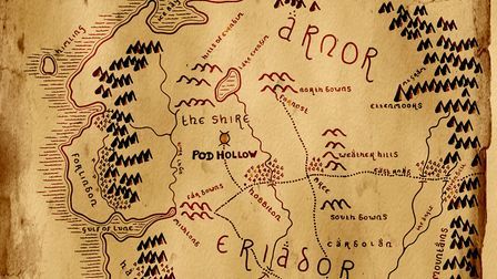 A map of Hobbiton Picture: Phil Morley
