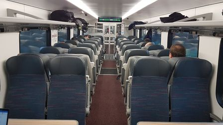 The standard class seats in the new Intercity train. Picture: PAUL GEATER