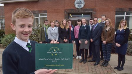 Thomas Mills High School in Framlingham have been recognised as 'world class' Picture: SONYA DUNCAN