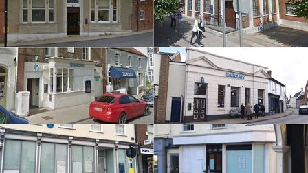 Banks that have all closed around Suffolk Pictures: GREGG BROWN / MARIAM GHAEMI / ARCHANT / GOOGLE