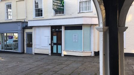 The former Lloyds bank in Bungay when it closed. Picture: Archant