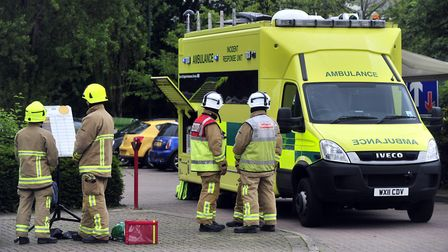 Suffolk fire and ambulance crews were called to a chemical incident near Newmarket. Stock image. Pi