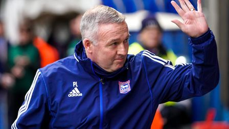 Town manager Paul Lambert waves to fans ahead of the match.Picture: Steve Waller www.steph