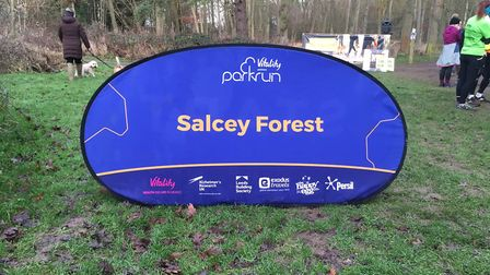 A good sign: The Salcey Forest parkrun. Picture: CARL MARSTON