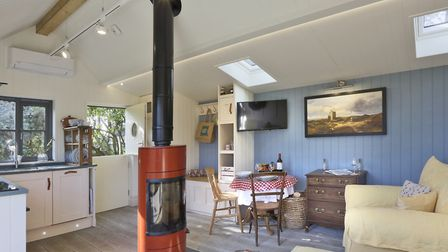 The Little House in Orford is a brand new Scandinavian style house with one pet allowed on the prope