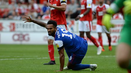 Jordan Roberts played just 23 minutes of football under Paul Hurst. Picture Pagepix