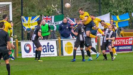 Plymouth Parkway on the attack at Woodbridge on Saturday. Photo: PAUL LEECH