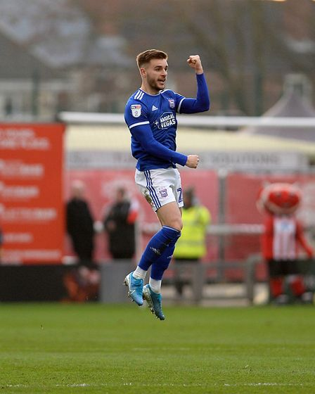 Luke Garbutt celebrates his goal at Lincoln City Picture Pagepix
