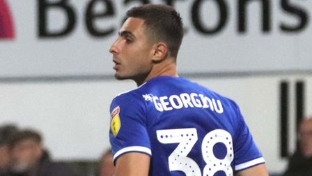Anthony Georgiou pictured during Town's 2-0 home defeat to Rotherham Picture: ROSS HALLS