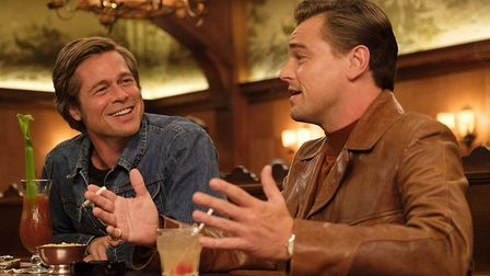 Brad Pitt and Leonardo Di Caprio in Once Upon A Time in Hollywood which has chalked up 10 BAFTA nomi