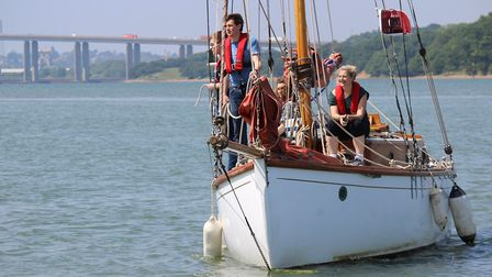Arthur Ransome's restored yacht the Nancy Blackett will be open for visits during the Suffolk Day we