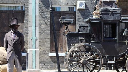 """An actor waits for the cry """"Action!"""" during filming of a new star-studded David Copperfield film fea"""