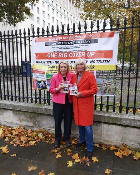 Barbara Keepley MP and Melanie Leahy took the campiagn to London before Christmas Picture: MELANIE L