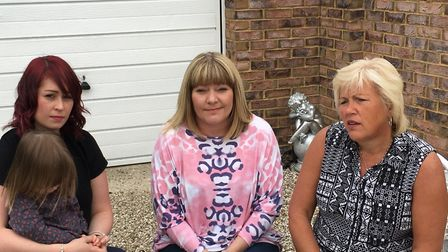 Amanda Cook, Lisa Morris and Melanie Leahy, who have all been campaigning for a public inquiry into