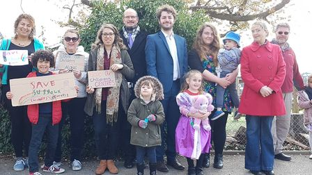 Jack Abbott (centre) has warned there is a new threat to Suffolk's children's centres. Picture: RA