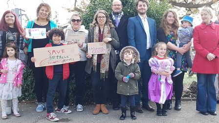 A campaign against children's centre changes was launched last year in Ipswich by the Labour group.