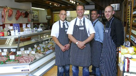 Oliver Ruse (2nd left) pictured with staff Dan Holt, Steve New and Seb Gordon-Cheyne in 2010 Picture