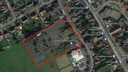 The Needham Market Middle School site where the homes are planned, while concerns have been raised b