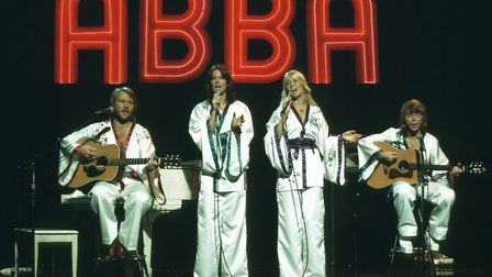 Undated handout photo of ABBA mid performance. Picture: Michael Ochs Archives/Super Troupers The Exh