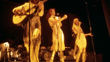 A PA file photo of ABBA performing on stage in Sweden in 1977. Picture: PA.