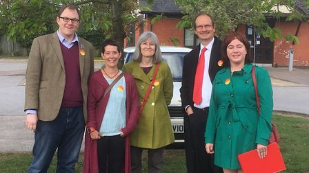 Gareth Snell MP visited Stowmarket in 2017 to campaign with Sandy Martin (who was standing for Parli