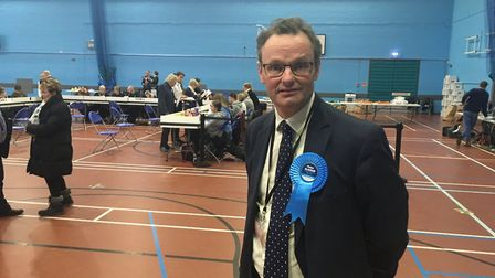 Peter Aldous upped his majority by more than 8,000 votes in Waveney. Picture: REECE HANSON