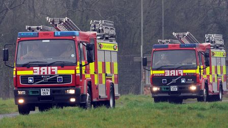 Two crews from Colchester were sent to tackle the blaze Picture: PHIL MORLEY