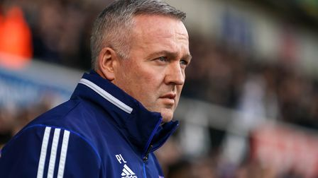 Paul Lambert's Blues have got 15 games left to fight for promotion. Picture: STEVE WALLER