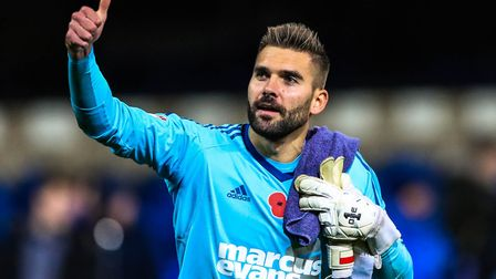 Bialkowski regrets not being able to say goodbye to the Ipswich fans on the pitch. Picture: STEVE